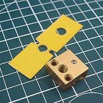 Mustwell 1pcs upgeade New Heater Block + Ceramic Cotton Insulation Heated Block for Creality CR-10 CR-10S 3D Printer Spare Part