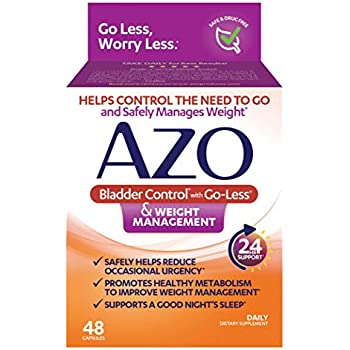 Azo Bladder Control >> Amazon Com Azo Bladder Control With Go Less Weight Management