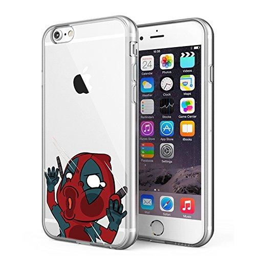 iPhone 6 Plus / iPhone 6S Plus Case, Litech™ [FlexFit] Premium Scratch-Resistant, Superhero Series (Dead Pool 2)