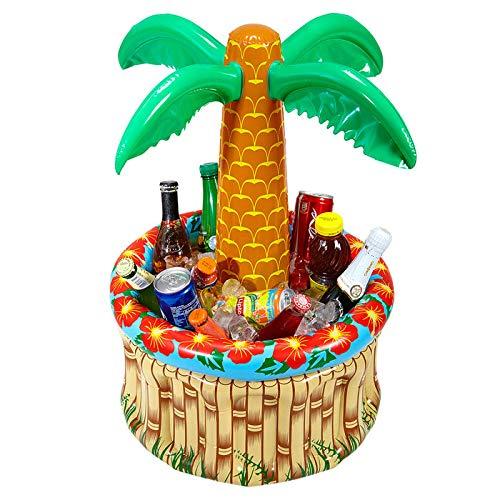 Luftmatratzen-wasser-spaß-mit-luftmatratze-mit-getraenkekuehler-palme