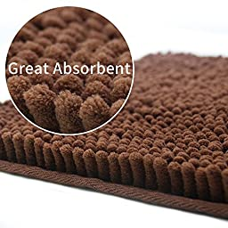 Dog Mat Super Absorbent Doormat,Microfiber Pet Pad,Great for Cleaning Paws 22\
