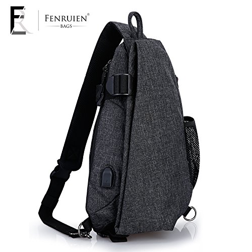 Charging personality chest bag male large capacity Messenger bag shoulder bag casual sports fashion backpack