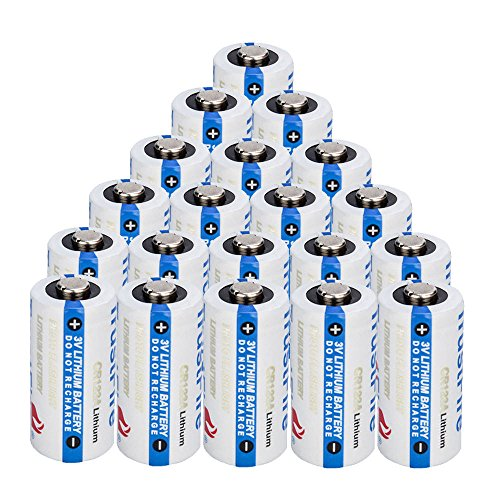 Trustfire 20 Pack CR 123 3V Lithium CR123A CR123 Batteries for Camera, Flashlight etc