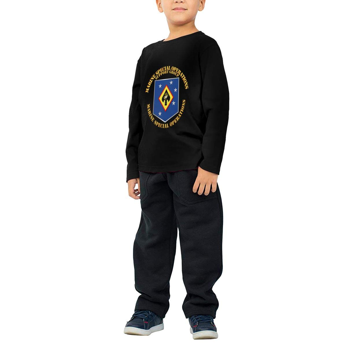 USMC Marine Special Operations Support Group Childrens Long Sleeve T-Shirt Boys Cotton Tee Tops