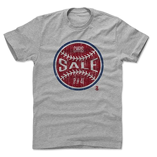 500 LEVEL Chris Sale Cotton Shirt Medium Heather Gray - Boston Baseball Men's Apparel - Chris Sale Ball R