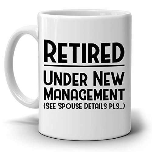 Funny Humorous Retirement Gag Gift Ideas for Nurse Teacher Firefighter Coworkers and Boss Coffee Mug, Printer on Both Sides!