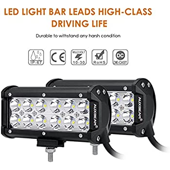 Amazon auxbeam 7 led light bar 36w cree driving light auxbeam 7 led light bar 36w cree driving light waterproof led spot lights for trucks mozeypictures Images