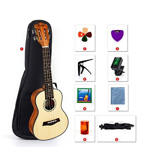 Concert Ukulele 23 Inch Ukelele Uke Hawaii Guitar for Beginner and Professional Player (Ukulele Kit, Type-3)
