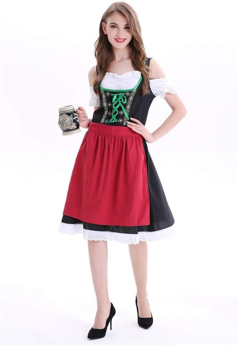 WSJDE Alemania Damas Oktoberfest Beer Girl Maid Disfraz Dirndl ...