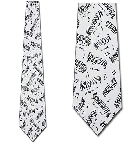 Do Re Mi Tie Musical Notes Ties Mens Neckties by Ralph - Marlin Necktie Mens Ralph