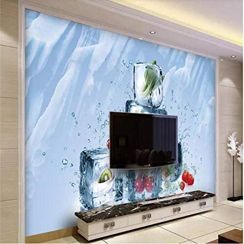 Summer ice Block Living Room TV Background Wall Professional Manufacturing Mural Wallpaper Custom Poster Photo wall350x250cm