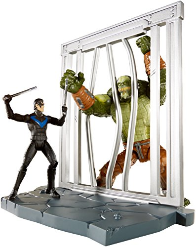 DC Comics Multiverse 4-Inch Arkham City Nightwing and Killer Croc Figure 2-Pack ()