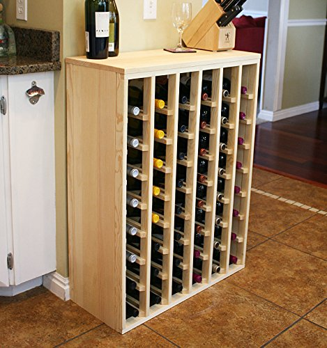 Creekside 48 Bottle Premium Table Wine Rack (Pine) by Creekside - Exclusive 12 inch deep design with solid sides. Hand-sanded to perfection!, (Solid Pine Wine Rack)