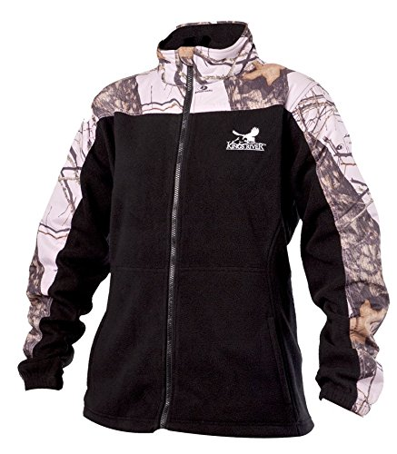 (Kings River Mossy Oak Womens Fleece Jacket , Pink/Caviar - XL)
