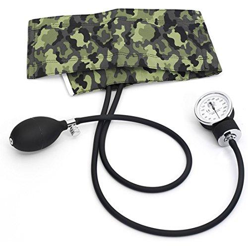 Prestige Medical Premium Adult Aneroid Sphygmomanometer, Camouflage Green (Blood Pressure Cuff Camo)