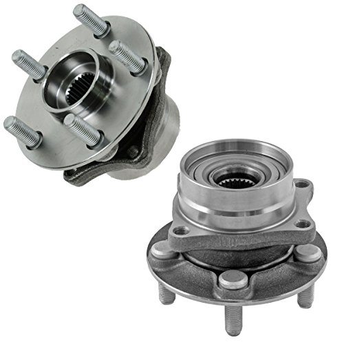 Detroit Axle - Front Driver and Passenger Wheel Hub and Bearing Assembly for 5-Lug Models - 2004-2009 Toyota Prius