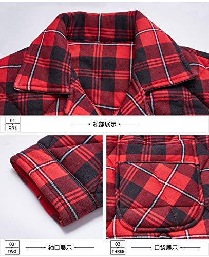 Cotone Servizio Più 75 180cm Pigiama 170cm Modelli Di Inverno Pajamasx 75kg Casa Xl165 E 65 Xxl170 85kg Uomo Caldo Vestito Autunno Trapuntato zvHtwqn