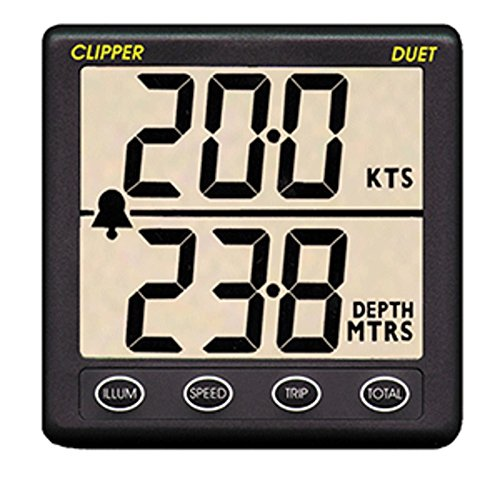 Clipper Duet Instrument - Depth Speed Log w/Transducer - *Remanufactured Marine , Boating ()