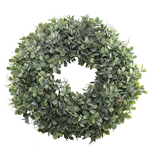 Nahuaa Boxwood Wreath for Front Door Decor, 17