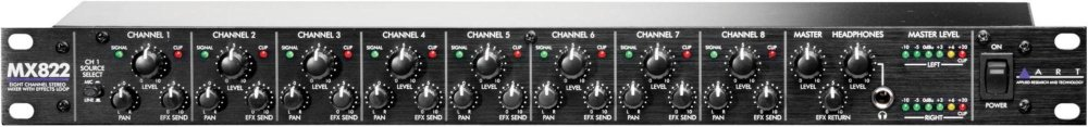 ART MX822 8-Channel Stereo Mixer