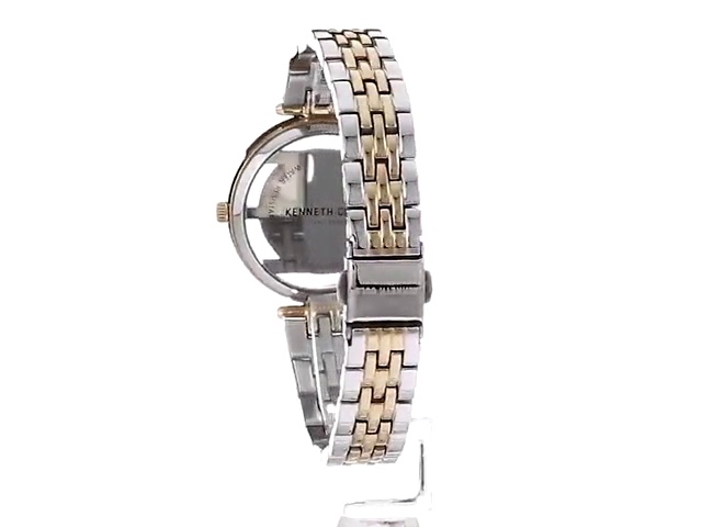 Kenneth Cole New York Women's Transparency Japanese-Quartz Watch with Stainless-Steel Strap, Two Tone, 14 (Model: KC50922002)