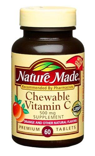 Nature Made Vitamine C à croquer 500 mg, 60 comprimés (Pack de 3)