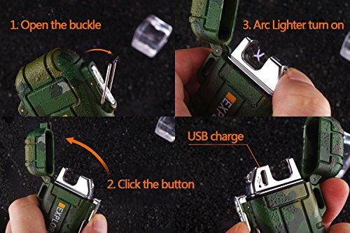 SANShine - Mechero electrónico de Doble Arco con batería de Plasma Recargable, Resistente al Viento, Impermeable y… 5