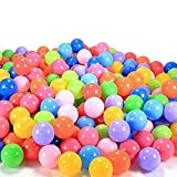 SAGUARO 100 Pcs 5.5cm Diameter Colorful Soft Plastic Ocean Fun Balls Baby Kids Pit Balls Tent Swim Pit Toys Game Gift