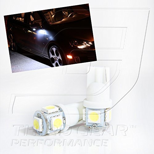 TGP T10 White 5 LED SMD Wedge 5050 Under Puddle Light Bulbs Pair 2006-2012 Lexus IS250 IS350