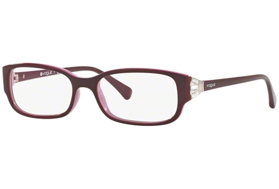Vogue VO5059B Eyeglass Frames 2321-50 - Top Eggplant On Pink at ...