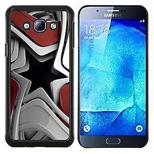 KLONGSHOP // Cubierta de piel con cierre a presión Shell trasero duro de goma Protección Caso - Resumen de la estrella - Samsung Galaxy A8 A8000 //