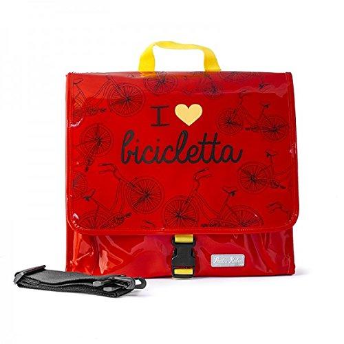 I Love Bicicletta THSD24, Borsa Messenger Unisex – Adulto, Rosso, Large