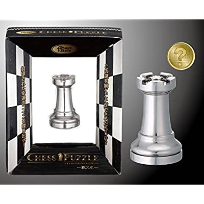 Rook Cast Chess Silver - Hanayama Metal Puzzle: Toys & Games