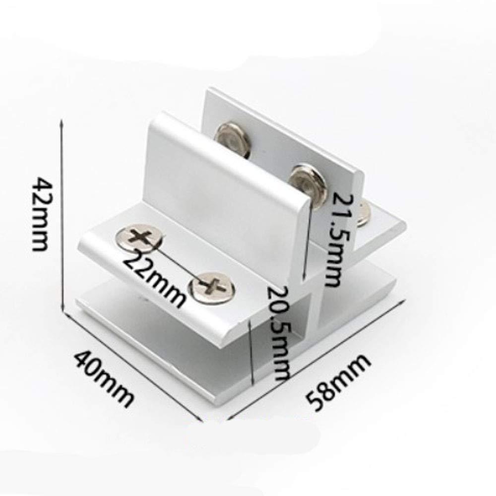 Platten Tische Anschlussklemme f/ür Glas an 3 Seiten Dusche Glas-zu-Glas-Halter Klemmung 10-12 mm Set mit 4 NUZAMAS T-Form-Glasklemmen