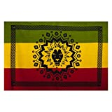 JAH Lion Africa Reggae Tapestry Wall Hanging Bed Spread-Rasta-One Size