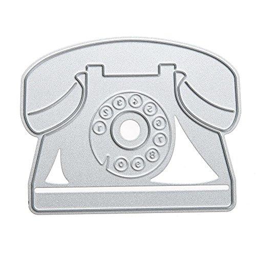 WinnerEco Landline Telephone Cutting Dies Stencil Metal Mould for DIY Scrapbook Album Paper Card