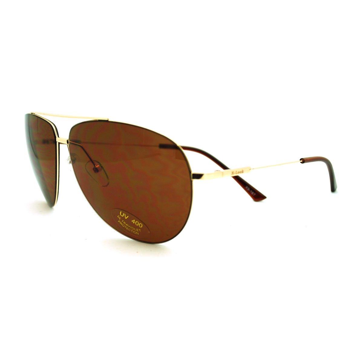 Mens Wire Rim Sniper Light Weight Pilot Sunglasses