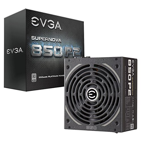 EVGA Supernova 850 P2, 80+ Platinum 850W, Fully Modular, EVGA ECO Mode, 10 Year Warranty, Includes Free Power On Self Tester, Power Supply ()