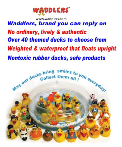 Hockey Rubber Ducks , Waddlers Brand, Bulk Pack 6,12,24,48,96 Pcs., Bath Rubber Toy Ducky Birthday Gift-all Depts. Hockey Player Deluxe Gift QTY (96) by Waddlers (Image #3)