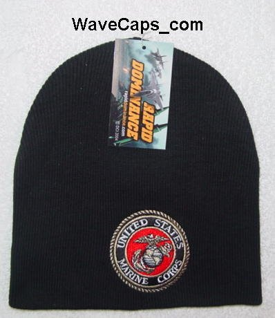 United States Marine Corps USMC Logo Cuffless Beanie Skull Cap Short Caps