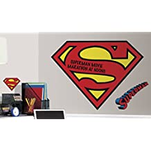 RoomMates RMK2624SLM Dry Erase Superman Logo Peel and Stick Giant Wall Decals