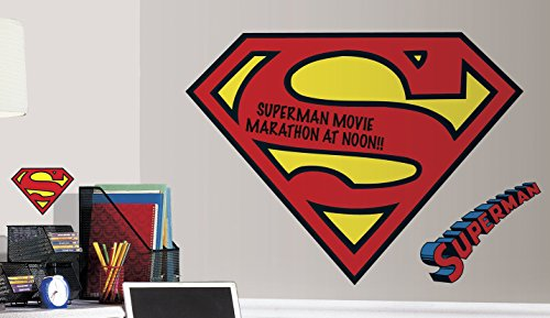 RoomMates RMK2624SLM Superman Logo Dry Erase Peel and Stick