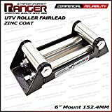 "Ranger UTV Side by Side Winch Roller Fairlead 6"" (152.4MM) Mount for 4000-5500 LBs UTV Winch by Ultranger"