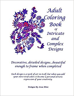 Amazon Com Adult Coloring Book Intricate And Complex Designs