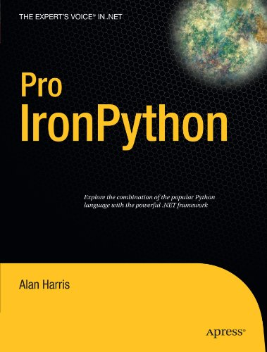Book cover of Pro IronPython (Expert's Voice in .NET) by Alan Harris