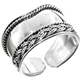 Bali Handmade Filigree 925 Sterling Silver Adjustable Toe Ring