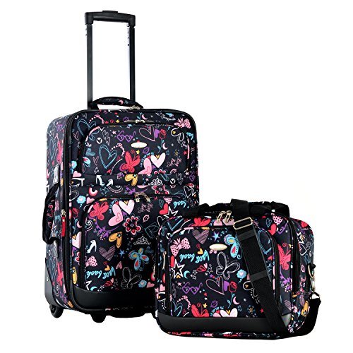 Olympia Let's Travel Carry-On Luggage Set (Butterfly)