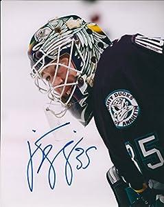 Autographed Jean Sebastien Giguere 8x10 Anaheim Ducks Photo