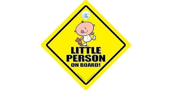 Little Person a bordo señal de coche, bebé a bordo señal ...