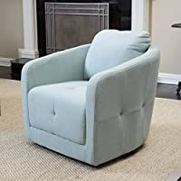 Bernhoft Light Blue Swivel Chair